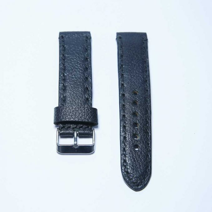 Optimized Black 22mm watch strap - 1
