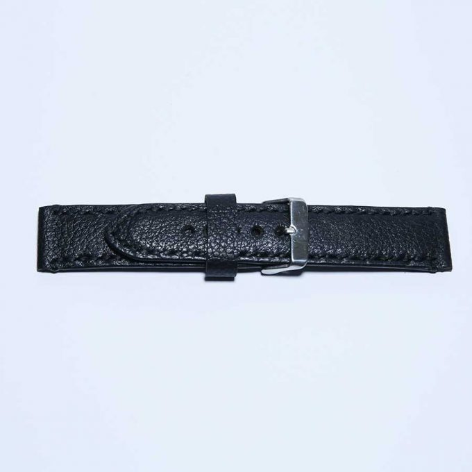 Optimized Black 22mm watch strap - 2