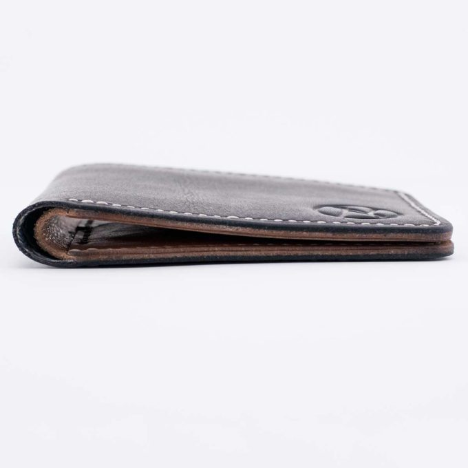 Slim Slacker Bifold Wallet V1 - Contrast Black Laid Down view