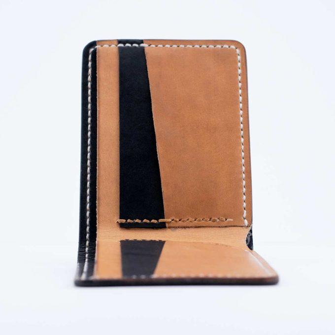 Slim Slacker Bifold Wallet V1 - Contrast Black Side view