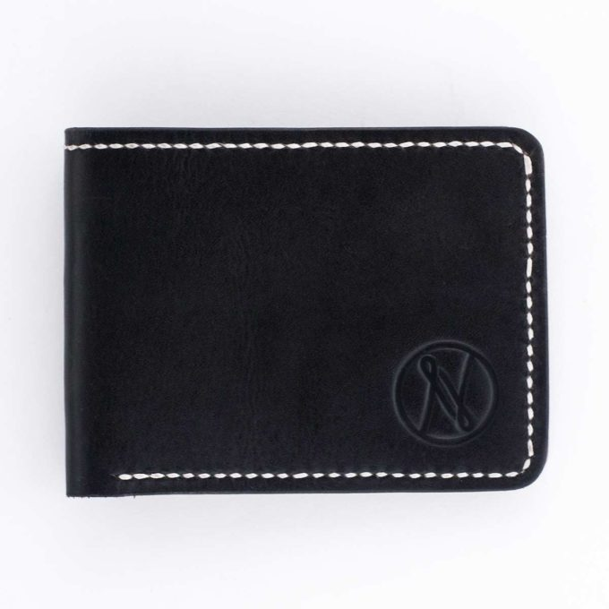 Slim Slacker Bifold Wallet V1 - Contrast Black - Top down