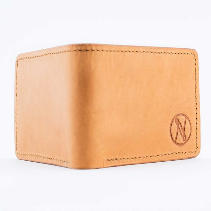 Slim Slacker Bifold Wallet V1 - Stock Brown Outer shell