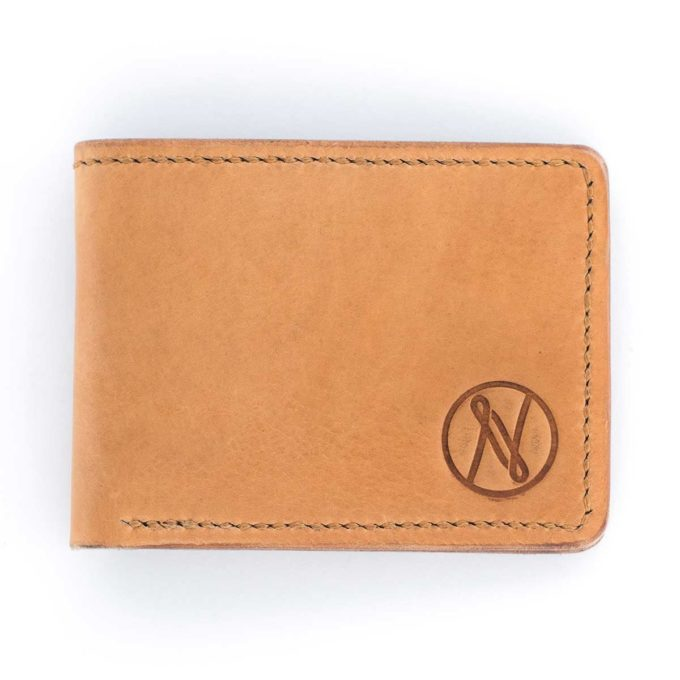 Slim Slacker Bifold Wallet V1 - Stock Brown - Top down